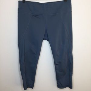 ATHLETA Cropped Legging with Mesh Panels